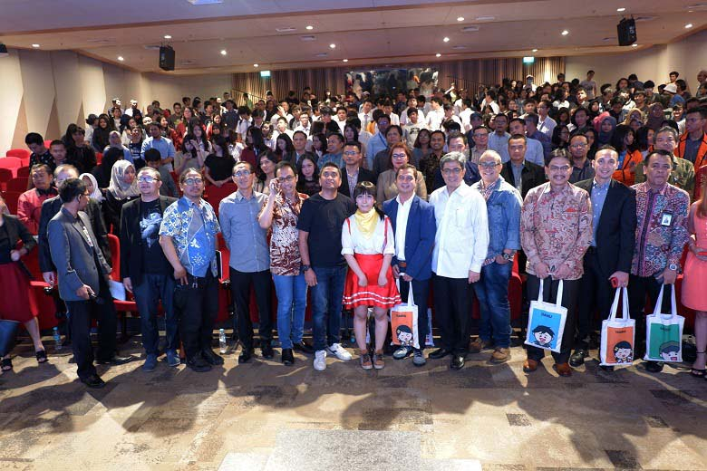Workshop Cinemation International Conference di BSD City, Rabu (11/07).